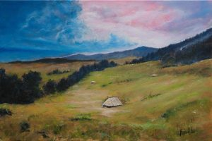 Hills-Acrylic-and-Oil-painting-on-canvas-by-topalski